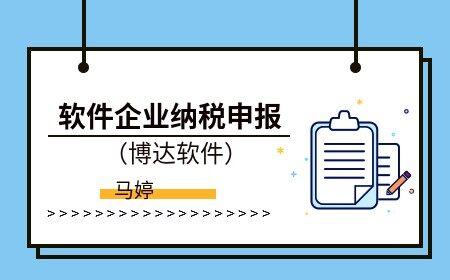 軟件企業納稅申報(博達軟件)