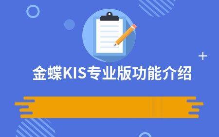金蝶KIS专业版功能介绍