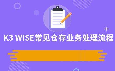 K3 WISE常见仓存业务处理流程