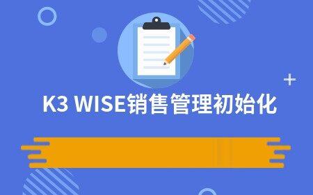 K3 WISE销售管理初始化
