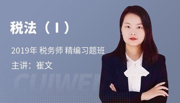 2019 税务师《税法Ⅰ》精编习题班