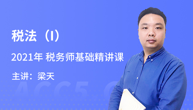 2021年 税务师《税法(I)》基础精讲课(8月前)