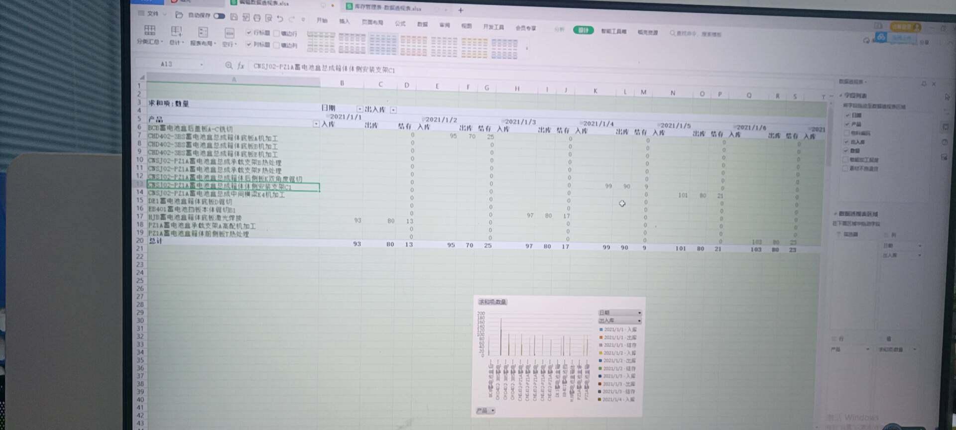 老师,这个数据透视表,我只需要一个月末结存