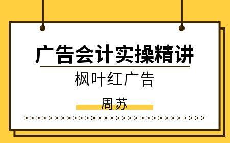 广告会计实操精讲(枫叶红广告)