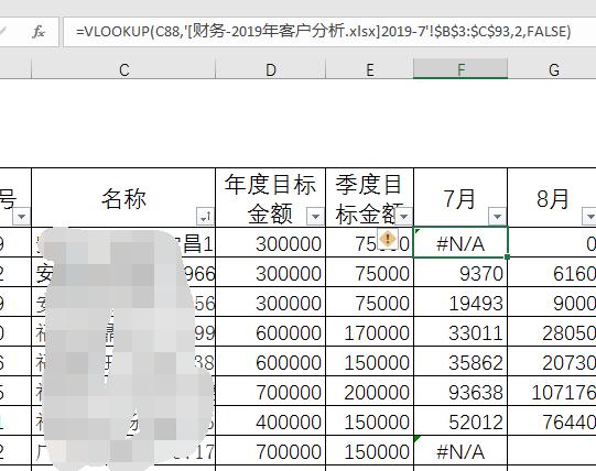 问题一:用vlookup 函数调用数值,如果没有的话为0,问题二,如何调用表格中同一个名称的销售额合计问题一是已经合计后的数字,可以直接调用,问题二是要调取一个表格中当月的同一个客户的数据汇总(客户有多次下单) 谢谢!