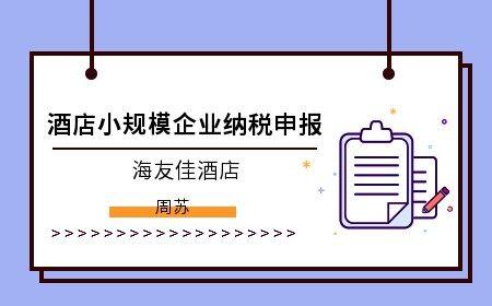酒店小规模企业纳税申报(海友佳酒店)