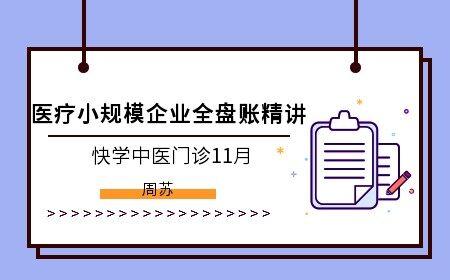 醫療小規模企業全盤賬精講(快學中醫門診11月)