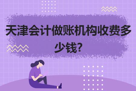 天津会计做账机构收费多少钱?