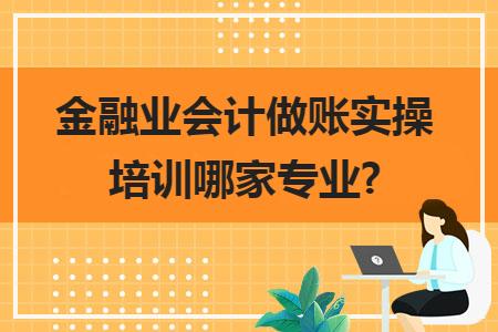 金融业会计做账实操培训哪家专业?