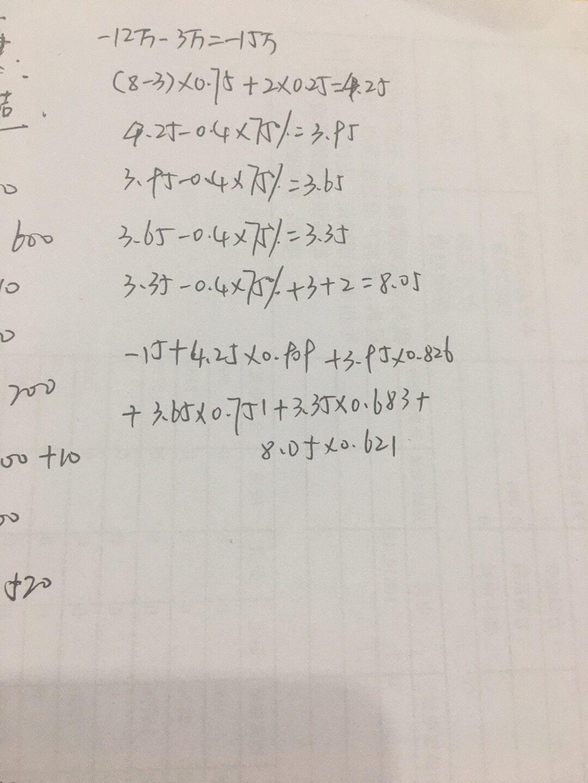 你好,你看一下图片,计算一下 如果大于0,就可行